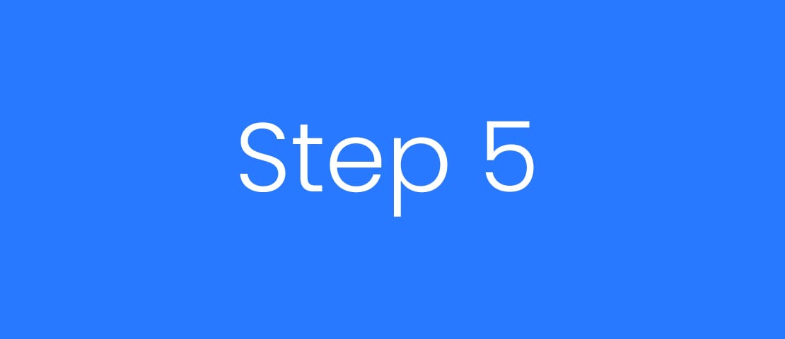 Step 5 Five Blue