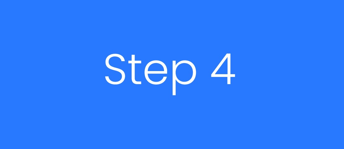 Step 4 Four Blue