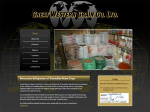 web design for great western grain SK