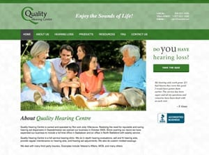 Web Design for Quality Hearing Centre