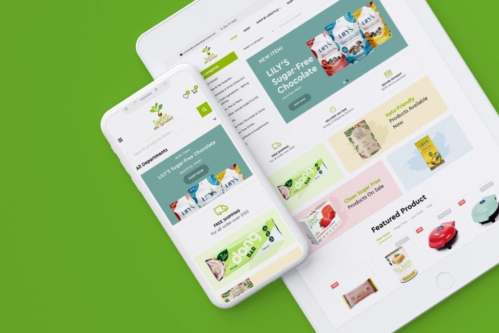 Sweet & Sprouted Mobile website