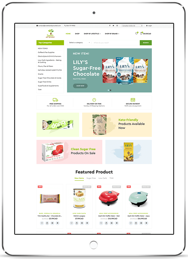 Sweet & Sprouted Ecommerce