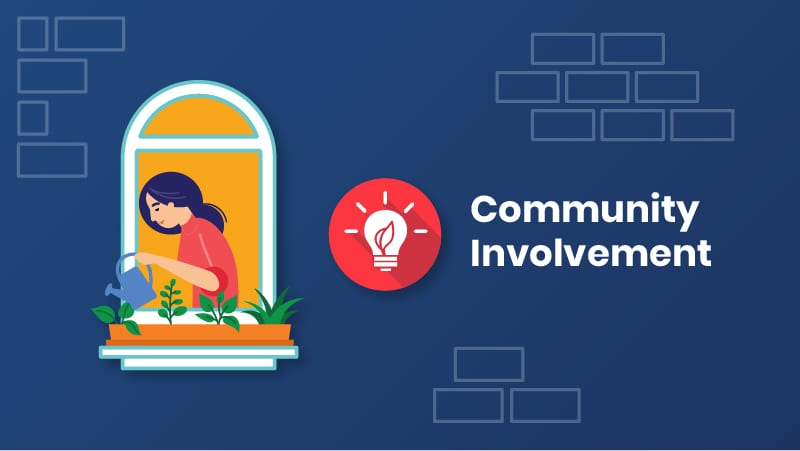 Community Involvement on About Page