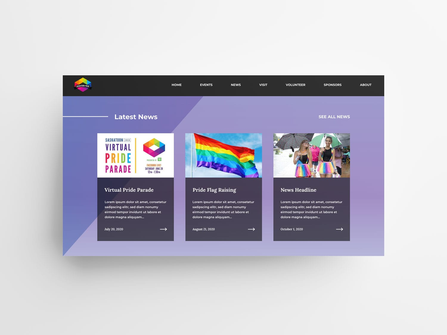 Pride Website News