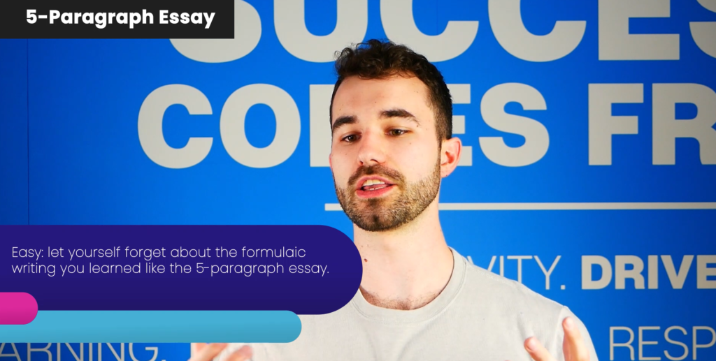 How to unlearn the 5 paragraph essay